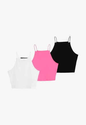 SPAGHETTI CAMI 3 PACK - Top - black/white/pink