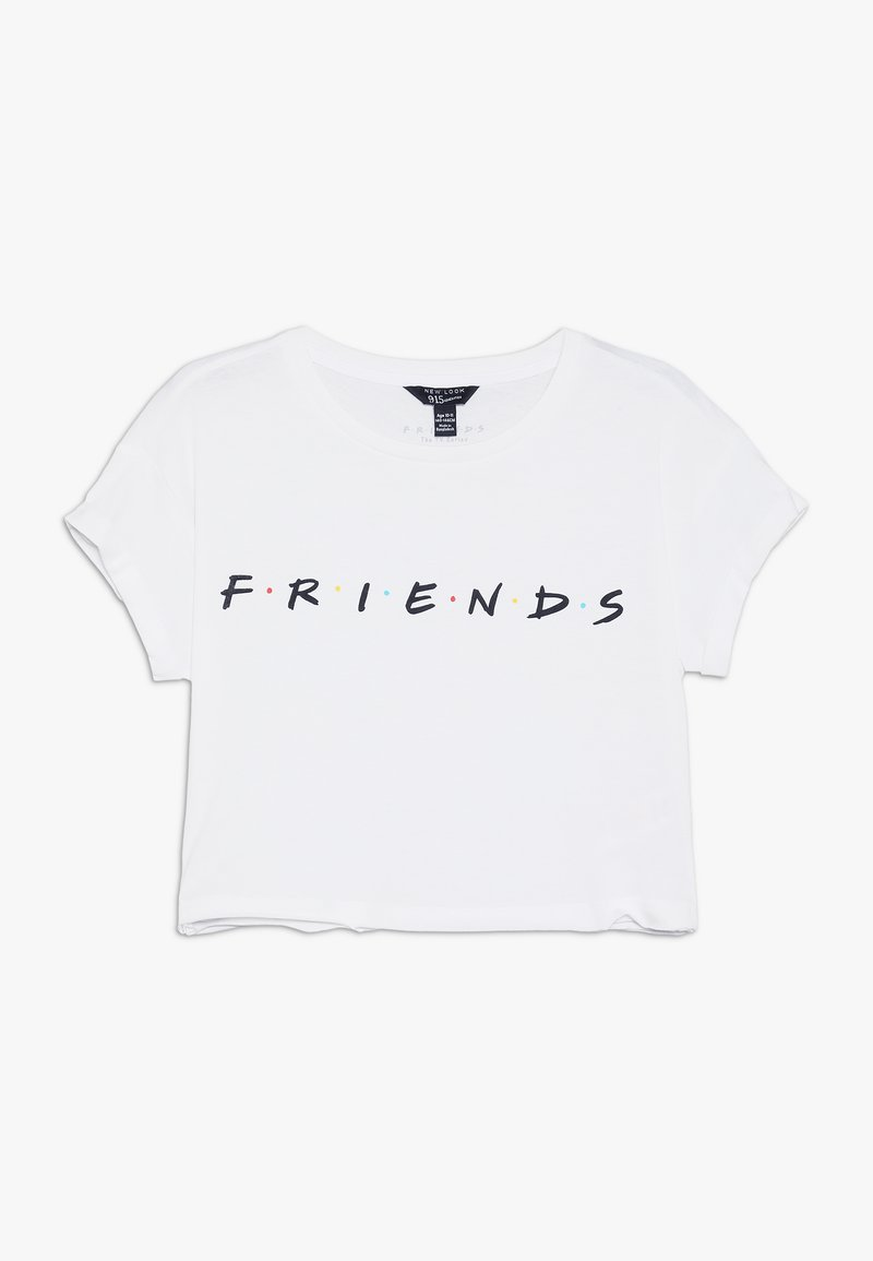 New Look 915 Generation - FRIENDS LOGO TEE - T-shirt med print - white