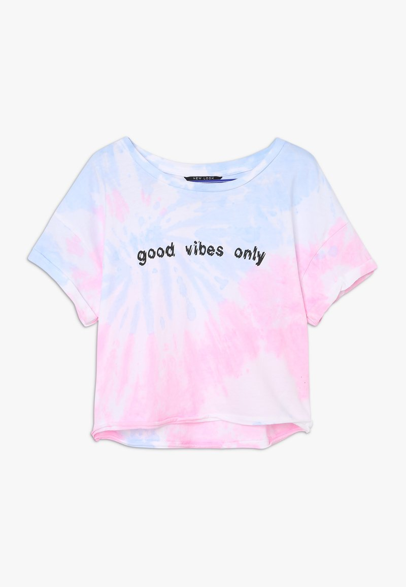 New Look 915 Generation - GOOD VIBES ONLY SWIRL TIE DYE - T-shirt med print - multicolor
