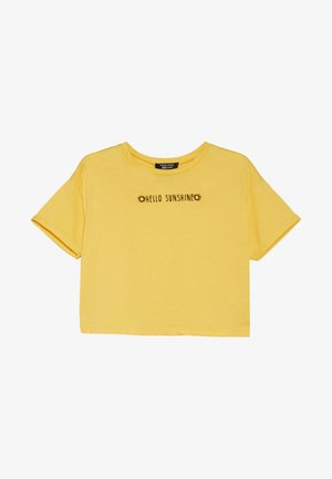 HELLO SUNSHINE SLOGAN TEE - Triko s potiskem - yellow
