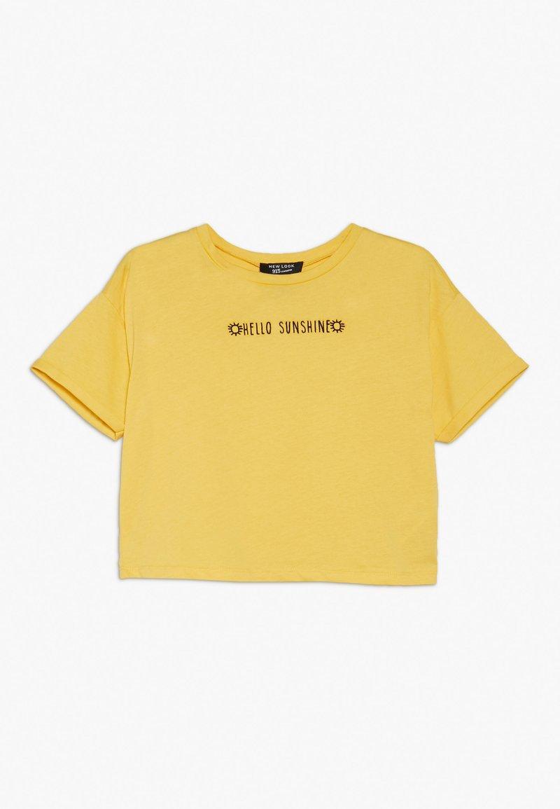 New Look 915 Generation - HELLO SUNSHINE SLOGAN TEE - T-shirt med print - yellow