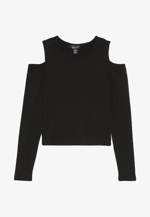 MARY COLD SHOULDER TEE - Long sleeved top - black
