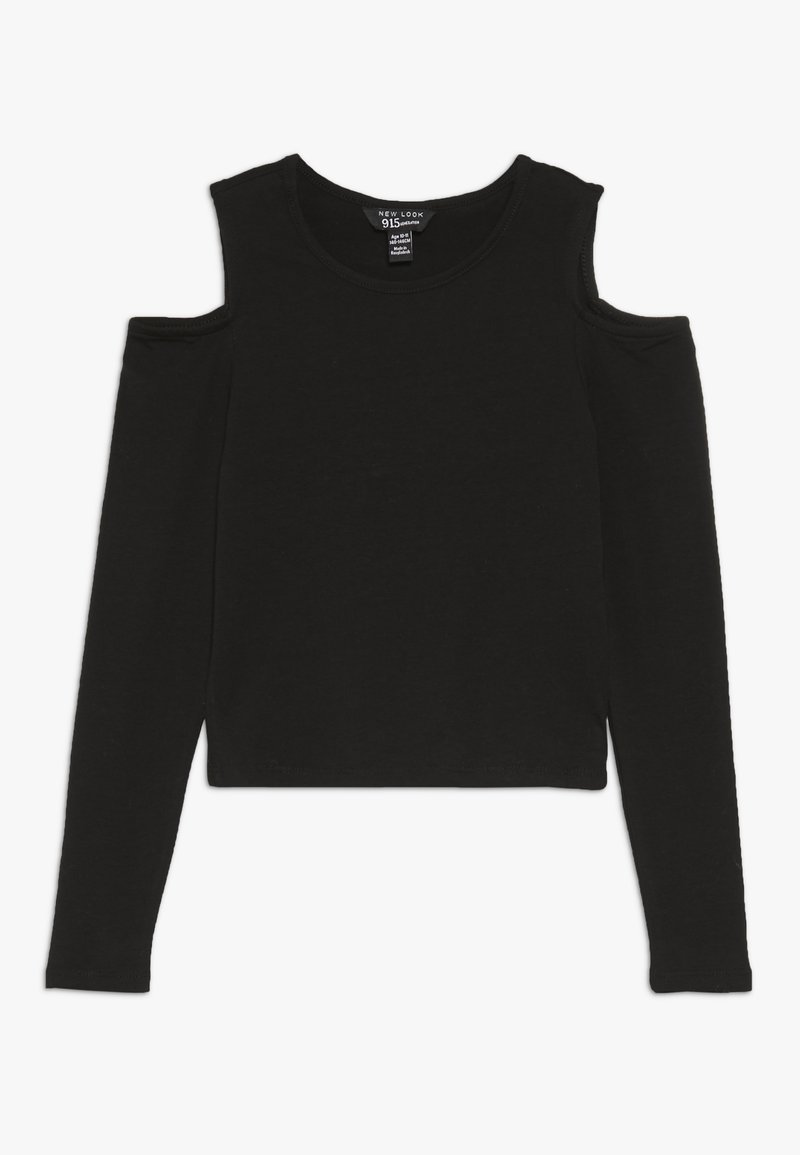 New Look 915 Generation - MARY COLD SHOULDER TEE - Long sleeved top - black