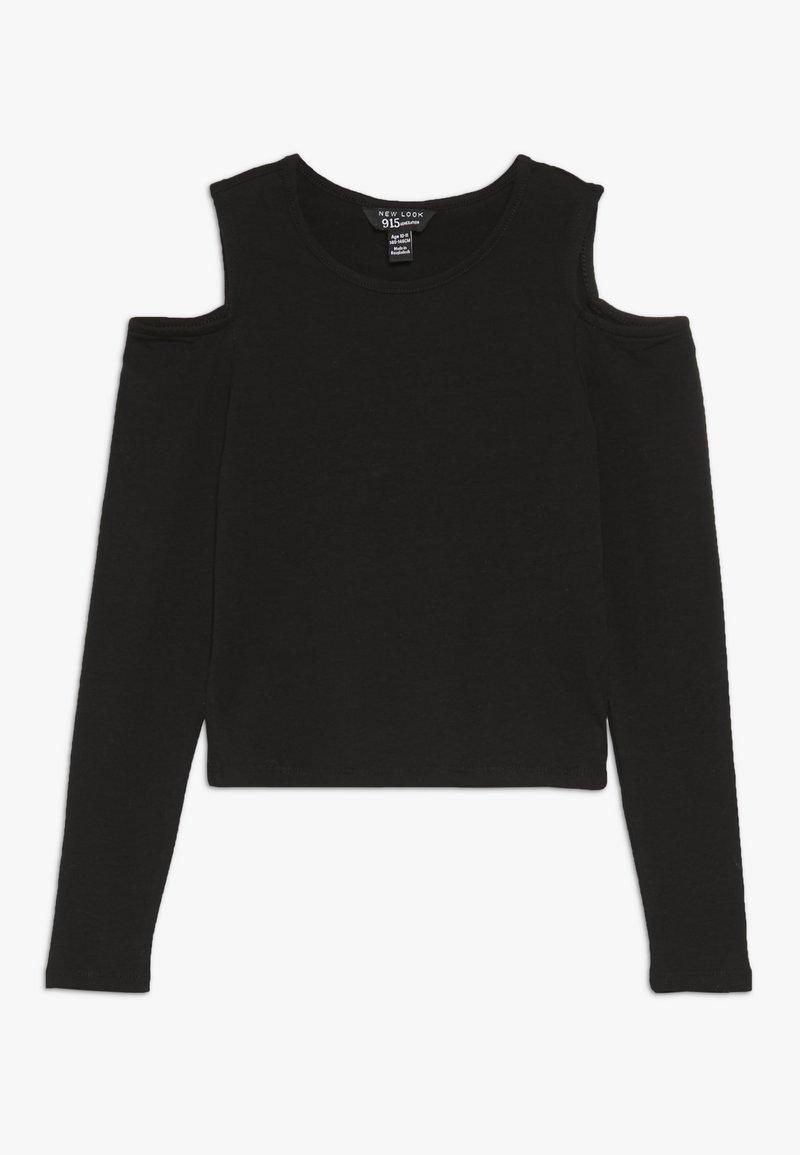 New Look 915 Generation - MARY COLD SHOULDER TEE - Topper langermet - black