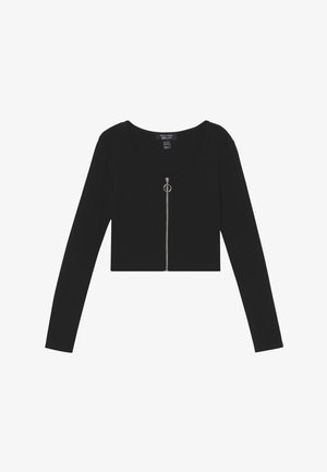 ZIP - Strickjacke - black