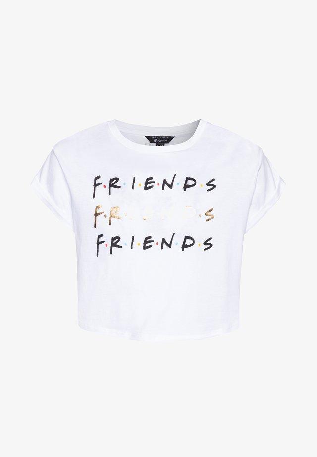 FRIENDS LOGO TEE - T-shirt med print - white