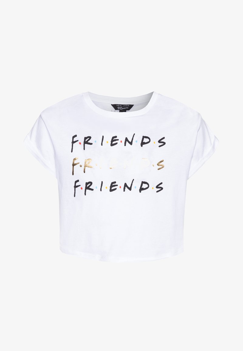 New Look 915 Generation - FRIENDS LOGO TEE - T-shirt z nadrukiem - white