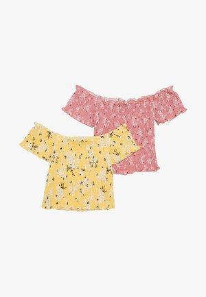 SHIRRED BARDOT 2 PACK  - Print T-shirt - multicoloured