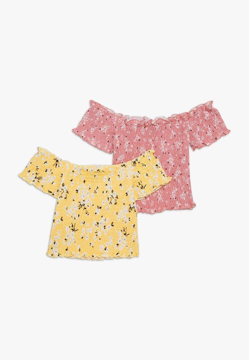New Look 915 Generation - SHIRRED BARDOT 2 PACK  - T-shirts med print - multicoloured