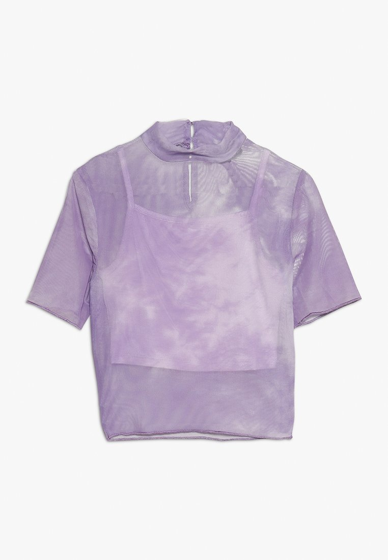 New Look 915 Generation - TIE DYE STAND NECK - Bluzka - lilac