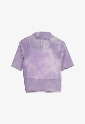 TIE DYE STAND NECK - Blouse - lilac