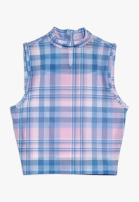 New Look 915 Generation - CHECK NECK VEST - Topper - pink - 0