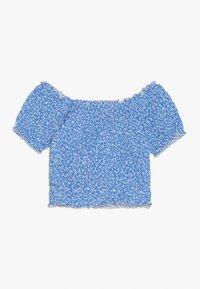 New Look 915 Generation - DITSY FLORAL SHIRRED SQUARE NECK - Camiseta estampada - blue - 1