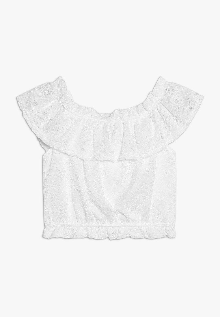 New Look 915 Generation - FLOUNCE FRILL BARDOT - Blouse - white