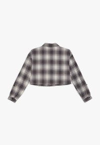 New Look 915 Generation - BOXY CROP CHECK  - Button-down blouse - grey - 1