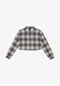 New Look 915 Generation - BOXY CROP CHECK  - Button-down blouse - grey - 2