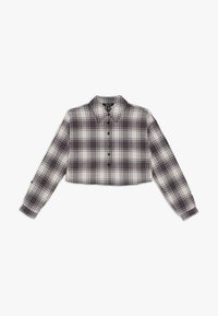 New Look 915 Generation - BOXY CROP CHECK  - Button-down blouse - grey - 0