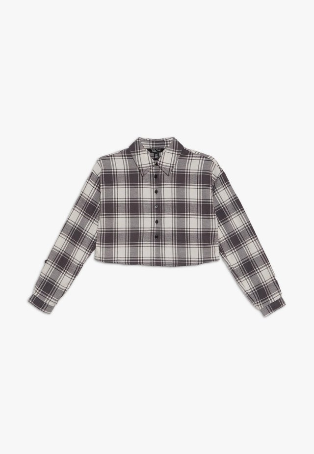 BOXY CROP CHECK  - Hemdbluse - grey