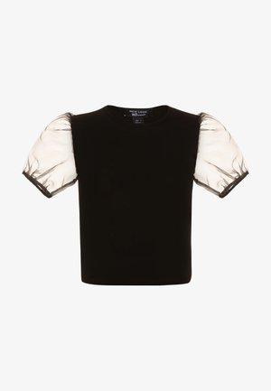 CREW PUFF - T-shirt imprimé - black