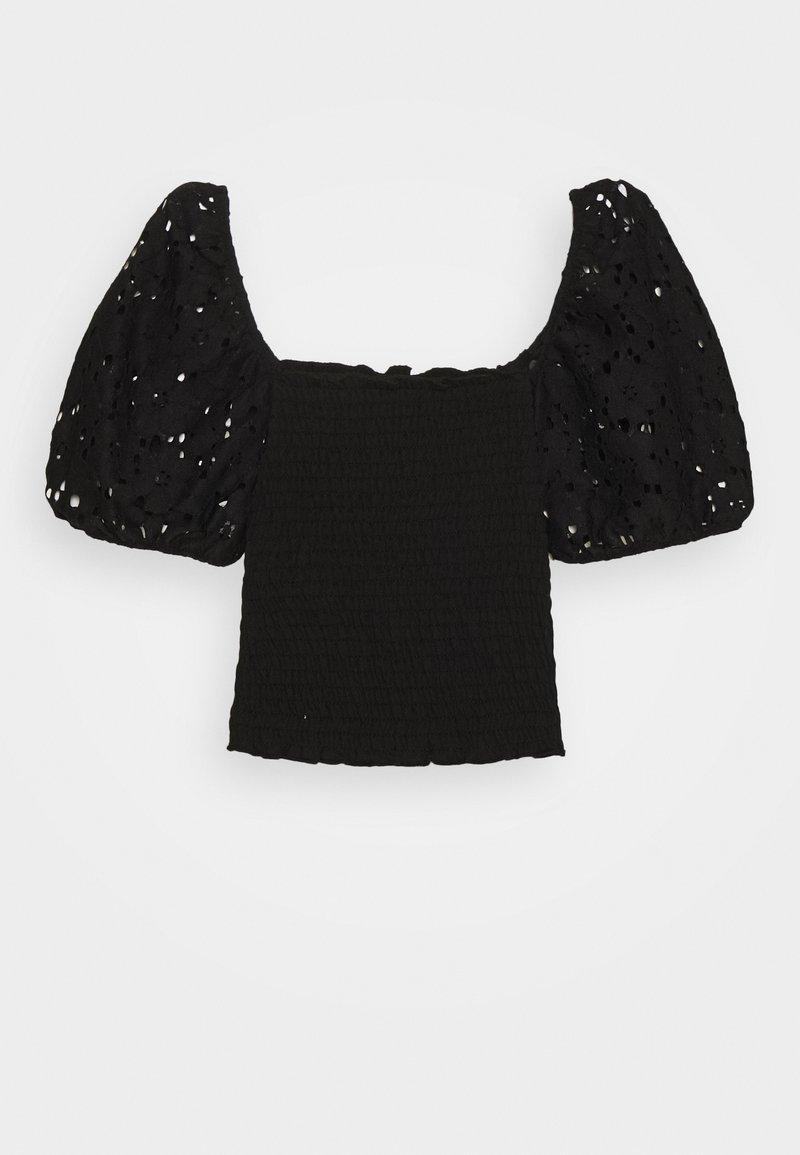 New Look 915 Generation - SHIRRED - T-shirt print - black