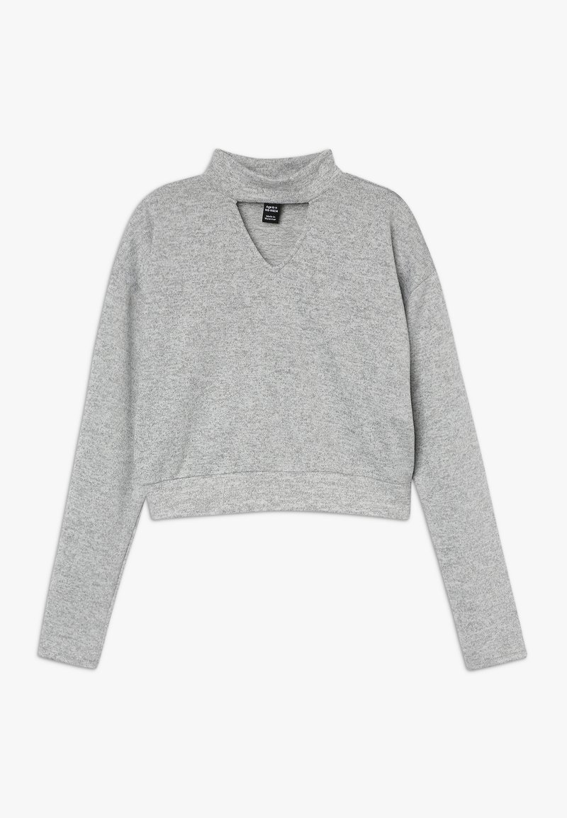 New Look 915 Generation - BRUSHED CHOKER JUMPER - Svetr - mid grey