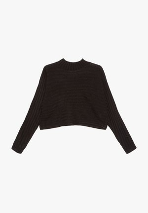 STAND NECK JUMPERP - Jumper - black