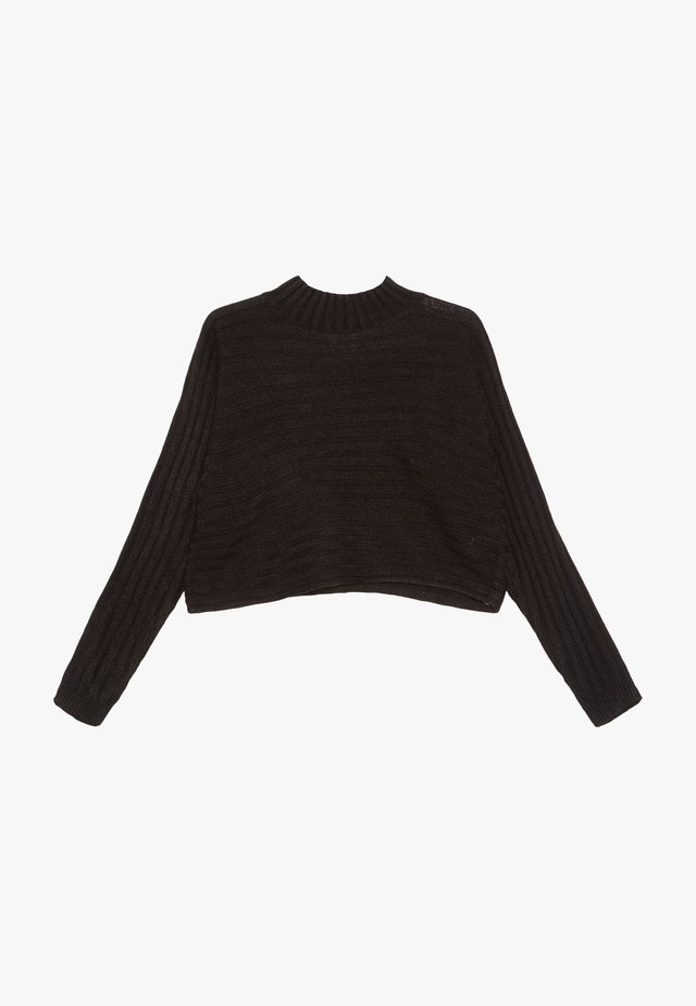 STAND NECK JUMPERP - Neule - black