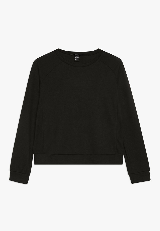 CREW NECK JUMPER - Strickpullover - black