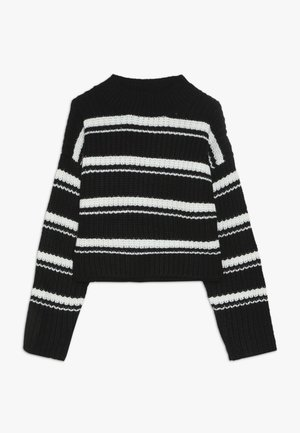 MARS STRIPE JUMPER - Jumper - black