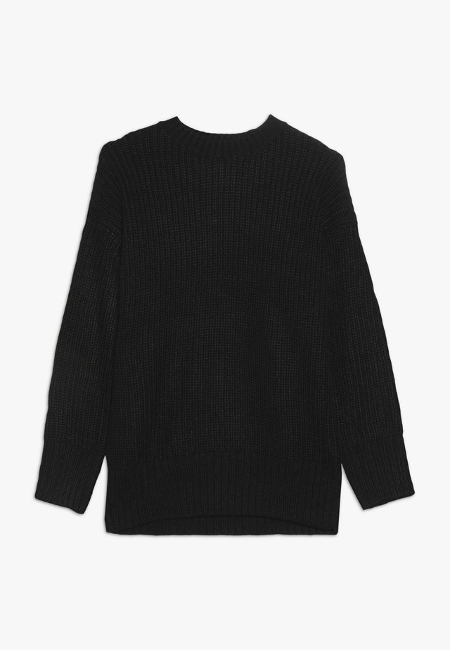 LONGLINE CREW NECK JUMPER  - Strickpullover - black