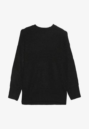 LONGLINE CREW NECK JUMPER  - Strickpullover - black