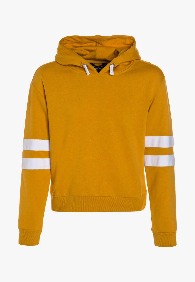 New Look 915 Generation - STRIPE SLEEVE HOODY - Kapuzenpullover - dark yellow