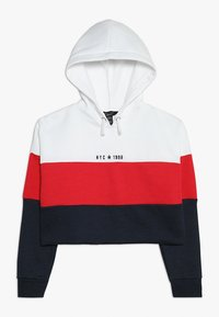 New Look 915 Generation - COLOURBLOCK HOODY - Hoodie - red - 0