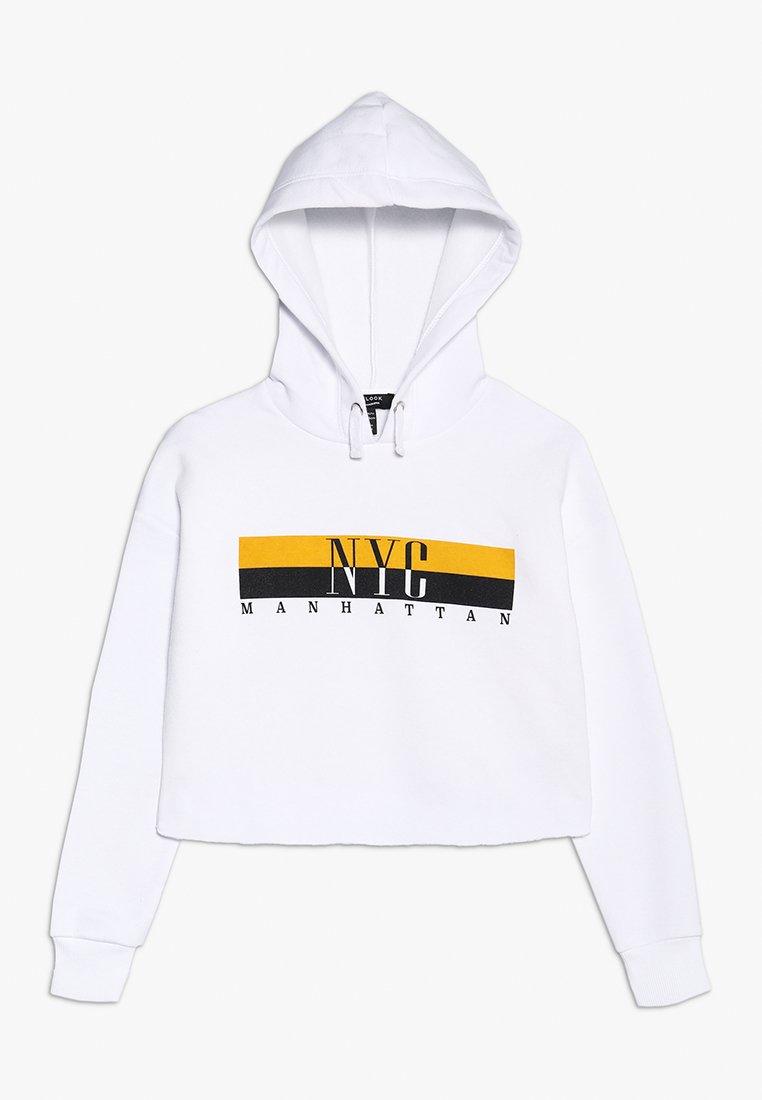 New Look 915 Generation - NYC COLOURBLOCK LOGO HOODIE - Hoodie - white
