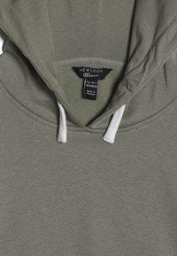 New Look 915 Generation - STRIPE SLEEVE HOODY - Hoodie - green - 4