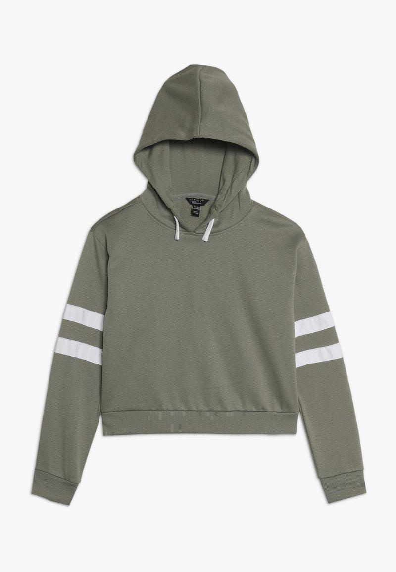 New Look 915 Generation - STRIPE SLEEVE HOODY - Hoodie - green