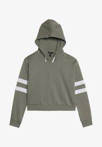 New Look 915 Generation - STRIPE SLEEVE HOODY - Hoodie - green - 3