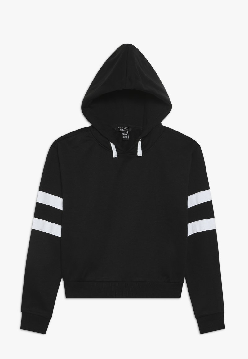 New Look 915 Generation - STRIPE SLEEVE HOODY - Hoodie - black
