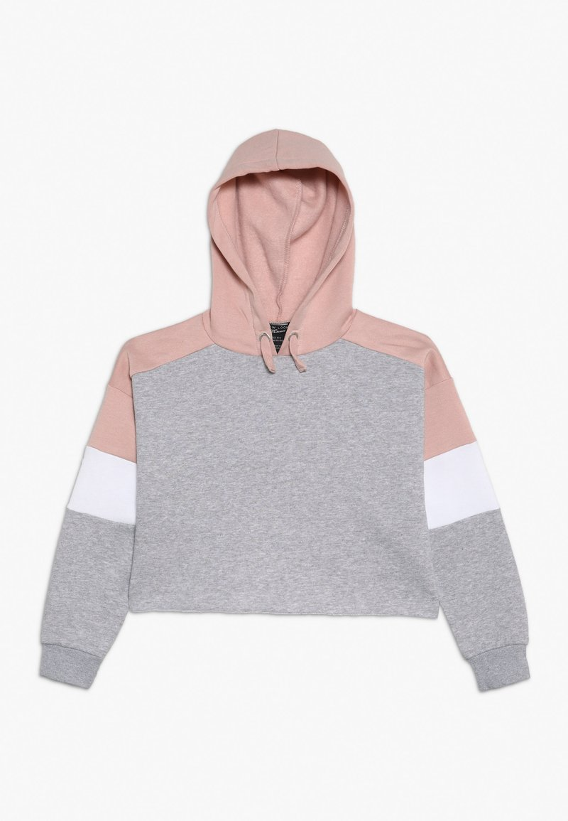 New Look 915 Generation - COLOURBLOCK HOODY - Huppari - light grey melange/pink