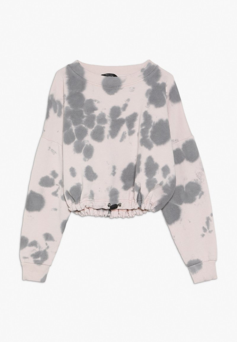 New Look 915 Generation - BLOTCHY TIE DYE ELASTIC HEM - Sweatshirt - pink