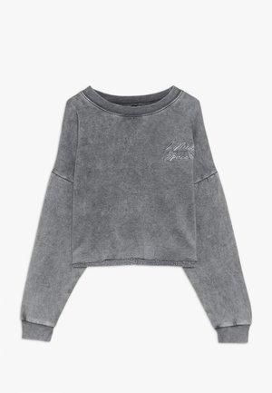 ACID WASH CROP RAW POCKET LOGO - Sweatshirt - grey