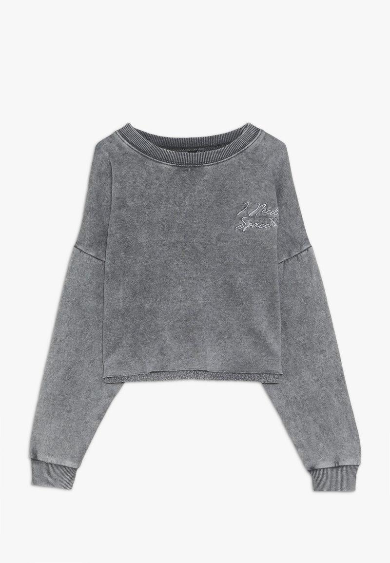 New Look 915 Generation - ACID WASH CROP RAW POCKET LOGO - Sweatshirt - grey