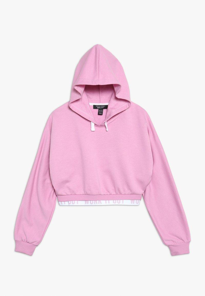 New Look 915 Generation - WORK IT OUT HEM HOODY - Hoodie - pink