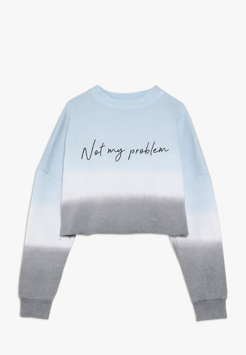 New Look 915 Generation - NOT MY PROBLEM DIP DYE CROP RAW  - Sweatshirt - blue