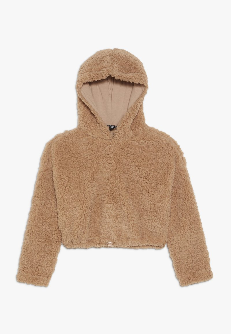 New Look 915 Generation - TEDDY CROP HOODY - Fleecová mikina - camel
