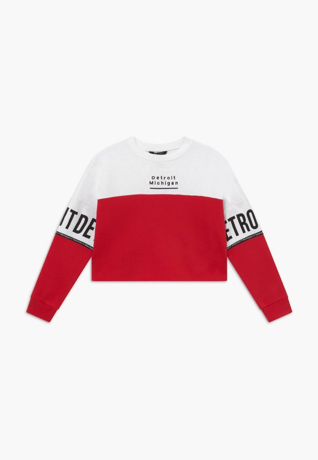 DETROIT COLOURBLOCK - Sweatshirts - red