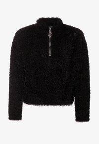 New Look 915 Generation - FLUFFY HALF ZIP - Mikina - black - 0