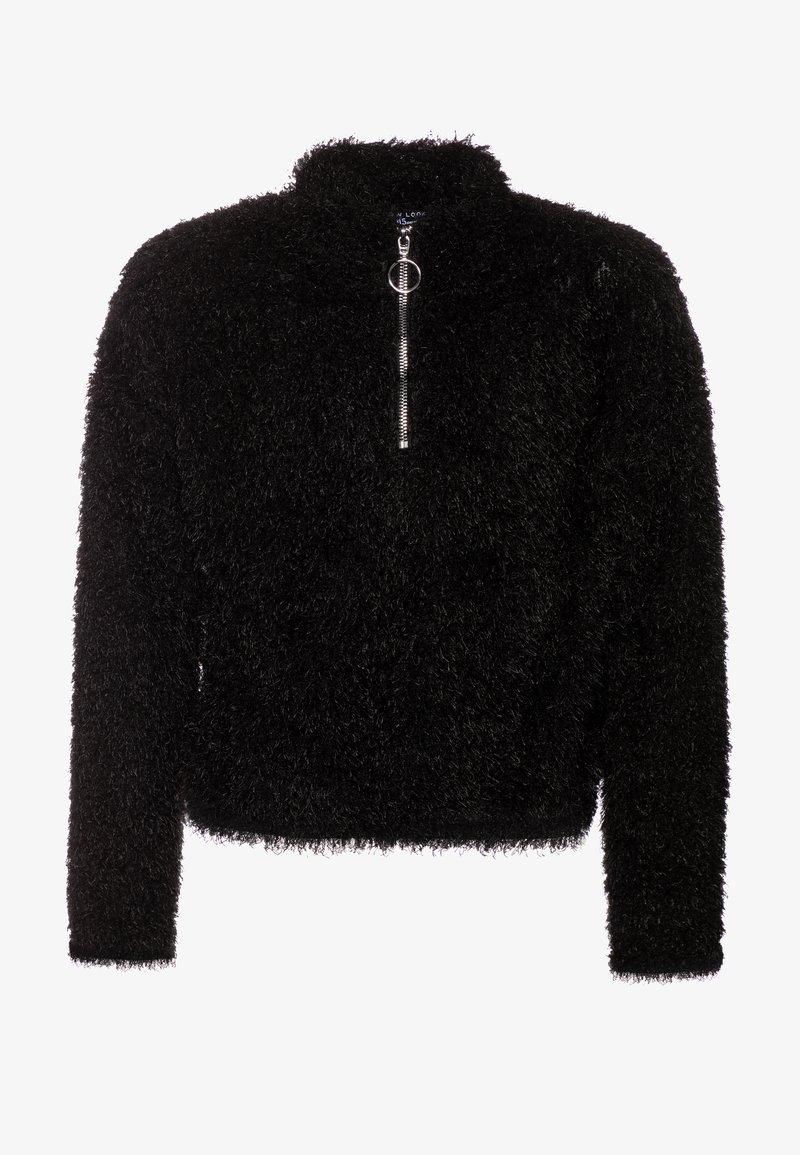 New Look 915 Generation - FLUFFY HALF ZIP - Mikina - black