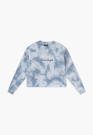 FOCUS ON THE GOOD TIE DYE - Sweatshirt - light blue