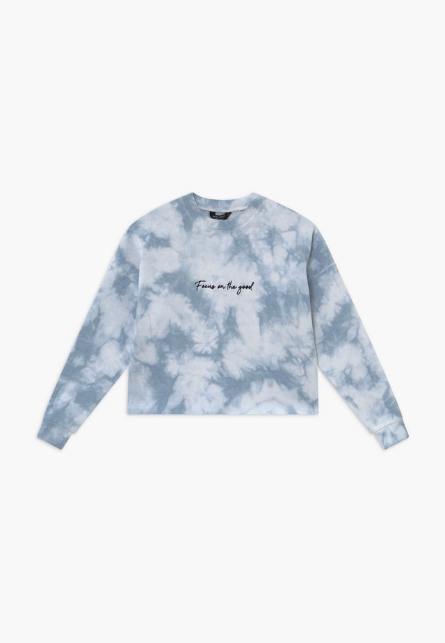 FOCUS ON THE GOOD TIE DYE - Sweatshirt - light blue